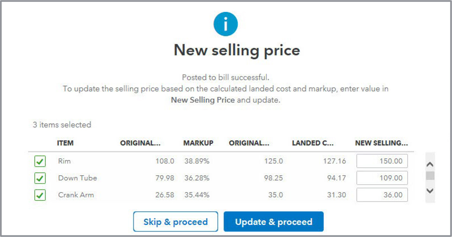Quickbooks Landed Cost Example Image 5