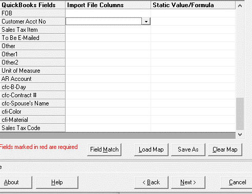 Data Calculation for imported columns example