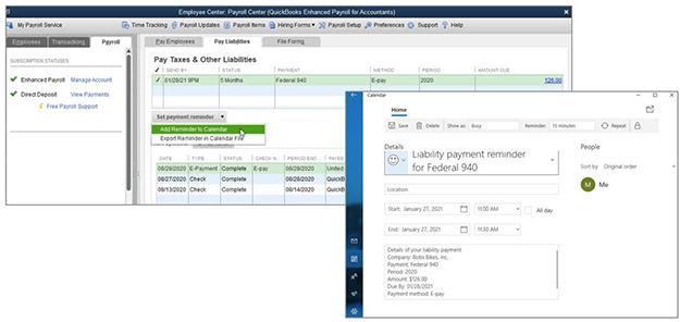 Quickbooks Payment Liability Reminders Example Image 1
